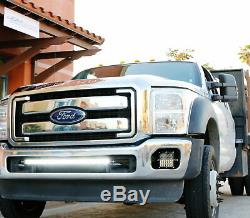 150W 30 CREE LED Light Bar with Lower Bumper Bracket, Wire For 2011-16 F250 F350