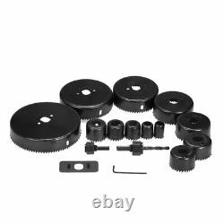 19mm-127mm 16pc Heavy Duty Hole Saw Set Metal Cutter Kit Round Drill Wood Bore