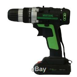 21V Cordless Drill Driver Combi Recharge Lithium Two Battery set Ion Screwdriver