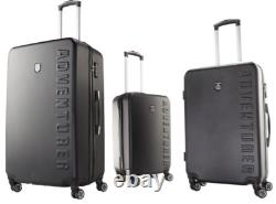 3 Top Quality Travel Suitcases Set Hard Shell ABS Lightweight Luggage Travel Bag