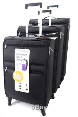 4 Wheel Spinner Set Of 3/Single L Weight Cabin Luggage Trolley Travel Suitcases