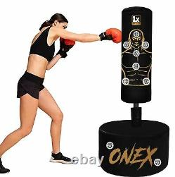 Adult Free Standing mature Gloves Set Boxing Stand Punch Bag Heavy Duty UFC MMA