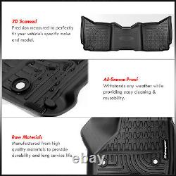 All-Season Protect Floor Mats Liner Front + Rear For 2009-2017 Ram 1500 Crew Cab