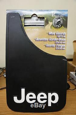 Complete Set Jeep Mud Guards With Bold Logo Heavy Duty Easy Install 9x15