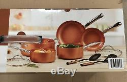 Copper Chef Heavy Duty Stainless Steel Induction 10 Piece Pan Set