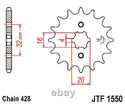 FITS Yamaha YZF-R125 2019 2020 DID Gold Heavy Duty Chain and Sprocket Kit Set