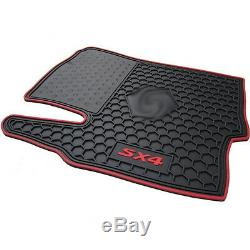 Full Set All Weather Heavy Duty Black Rubber Floor Mats For Suzuki SX4