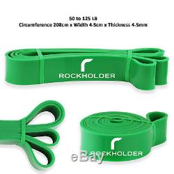 Heavy Duty Resistance Bands Loop Power Gym Fitness Exercise Yoga Workout Pull Up