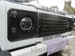 Land Rover Defender Heavy Duty Front Grille Grill and Light Guard Set