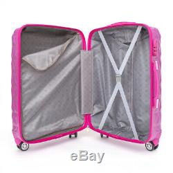 NEW ABS Hard Shell Cabin Suitcase Case 4 Wheels Luggage Lightweight 20 24 28