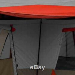 Ozark Trail 12 Person 3 Room L-Shaped Instant Cabin Tent Hiking Fast set-up