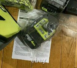 Ryobi P263 18v One+ Cordless 3/8 Impact Wrench Tool Charger 4.0ah Battery Set