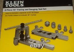 SPECIAL KLEIN TOOLS 8 PC NO. 89020 FLARING + SWAGING TOOL SET With CASE USA MADE