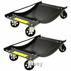 Set of 2 Vehicle Positioning Wheel Dolly Heavy Duty Dollies 450kg Per Dolly