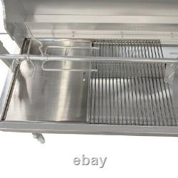 Stainless Steel BBQ Hotplate and Grill Set 400 x 480 Heavy Duty Construction