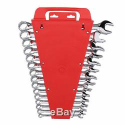 Tekton 8-22 mm Combination Wrench Tool Set 15 Piece Metric Hand Wrenches Tools