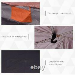 Tent 5-6 person camping tent Blue/Orange pop up design quick & easy to set up