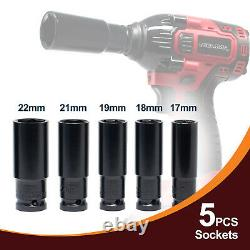 Toolman 21V 2 Batteries Cordless Impact Wrench with Drill Set 8 pcs Heavy Duty
