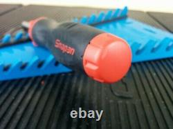 #aj700 NEW! 2019 Snap On Red Soft Grip Ratcheting Screwdriver SGDMRC4A with bits